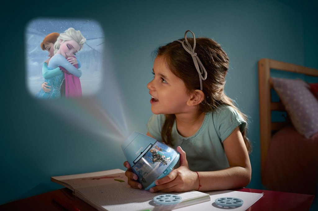 Disney frozen children s night light and projector on offer