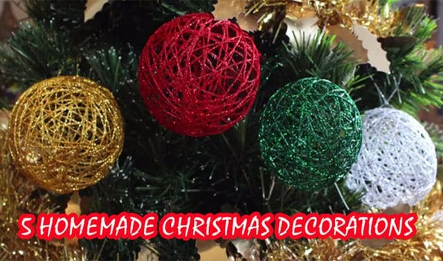 5 homemade christmas decorations for Homemade christmas decorations uk