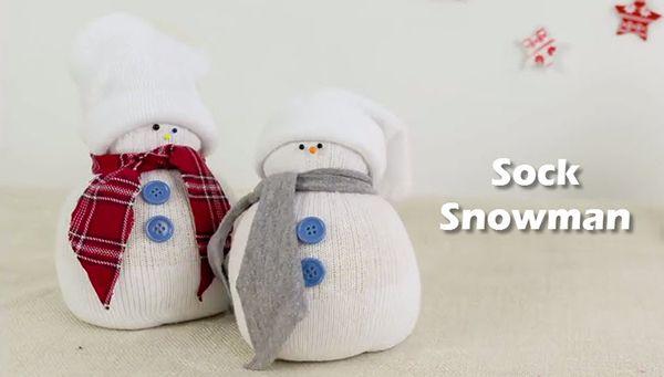 christmas crackered snowman