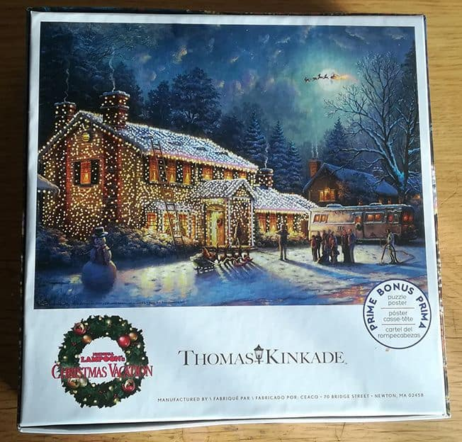 Christmas Vacation Jigsaw Puzzle Back