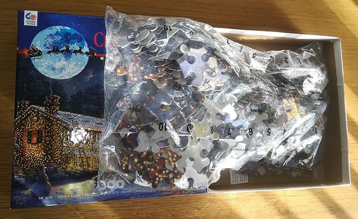 Christmas Vacation Jigsaw Puzzle Inside Box