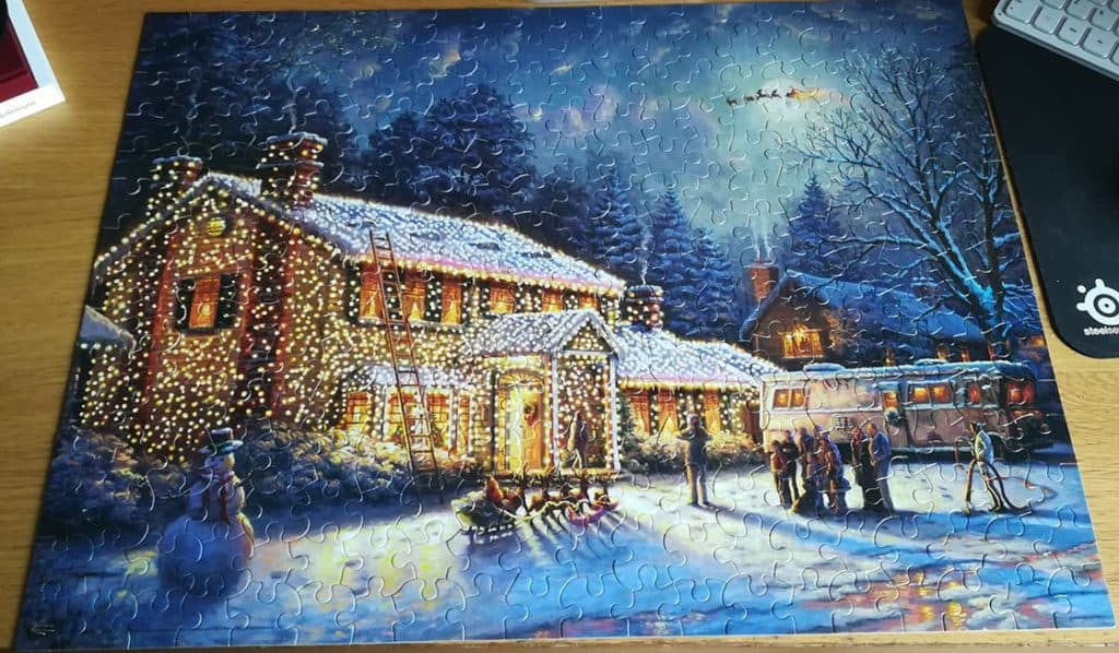 National Lampoons Christmas Vacation Jigsaw Puzzle Completed