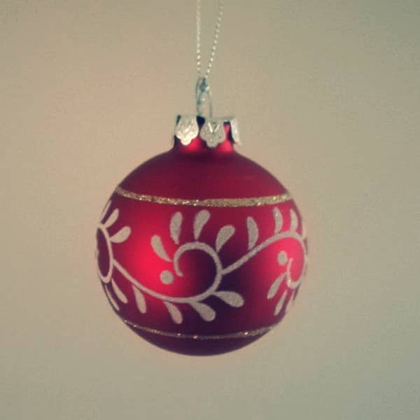 Red Christmas Tree Baubles