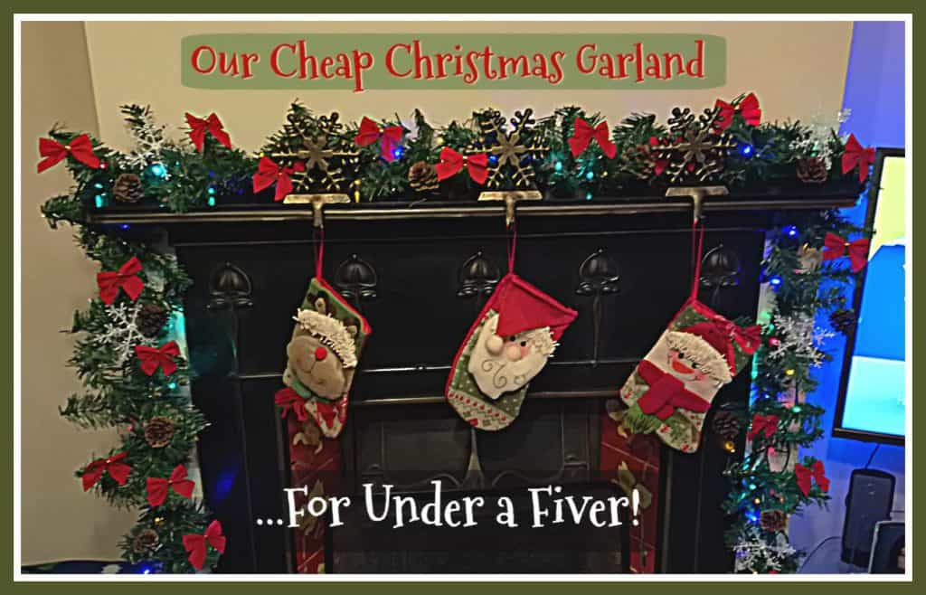cheap christmas garland