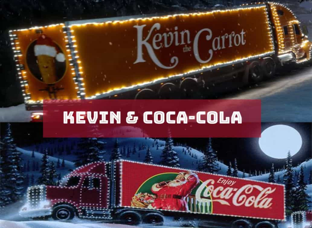 coca cola v kevin the carrot aldi