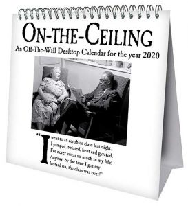 On The Ceiling Desk Easel Official 2020 Calendar