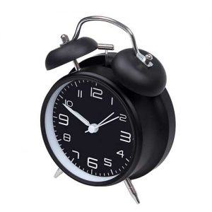 jiemei 4 inch Twin Bell Alarm Clock Battery Operated
