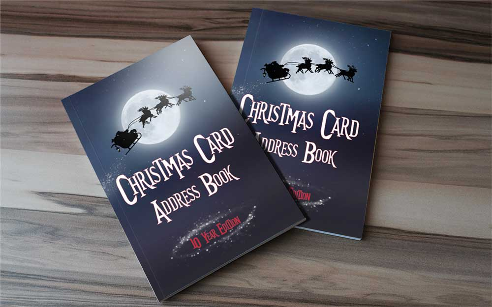address book with christmas card tracker